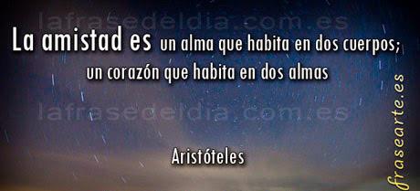 Frases de amistad - Aristóteles