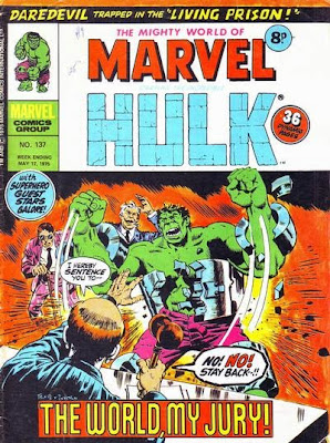 Mighty World of Marvel #137, Incredible Hulk
