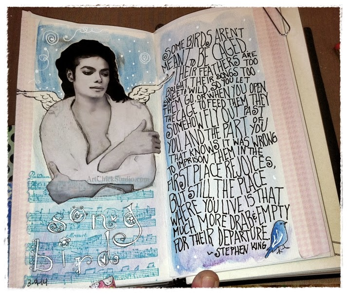 Song Bird Art Journal Page