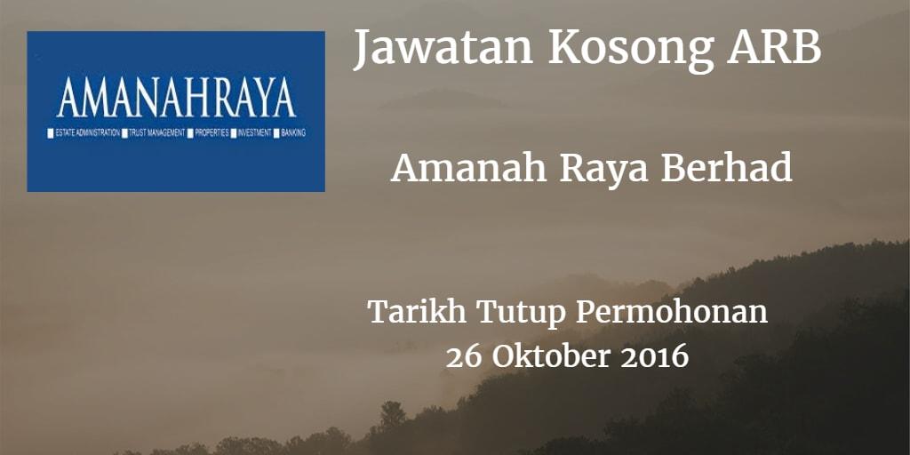 Jawatan Kosong ARB 26 Oktober 2016
