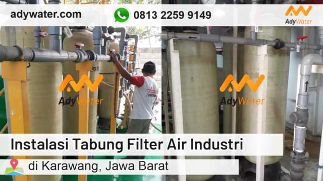 instalasi tabung filter air, jual tabung filter air, water treatment