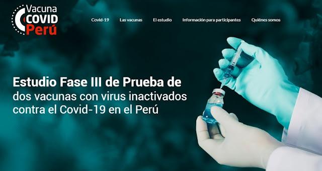 Vacuna COVID-19 Perú: Esta es la plataforma donde se realizarán inscripciones para ser voluntario en ensayos clínicos -  vacuna covid.pe