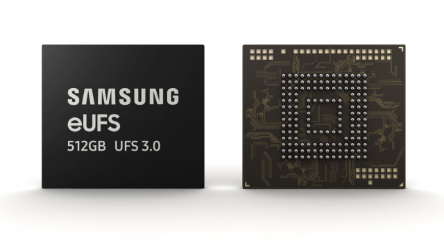 Samsung has launched the latest version of the 512GB eUFS 3.1