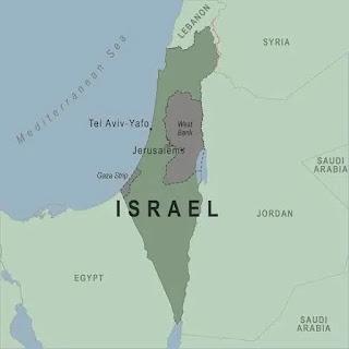 इजराइल का छेत्रफल कितना है