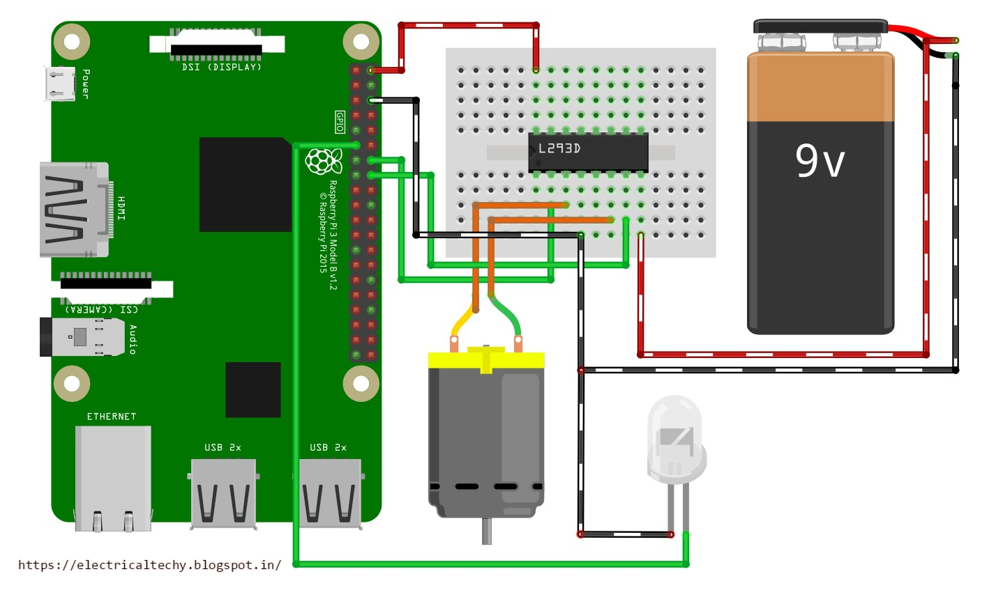 Electronics Electrical Techy Gui Controlled Devices Raspberry Pi B Circuit Diagram Schematic