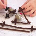 Red-nosed Reindeer Lollipops Step 1