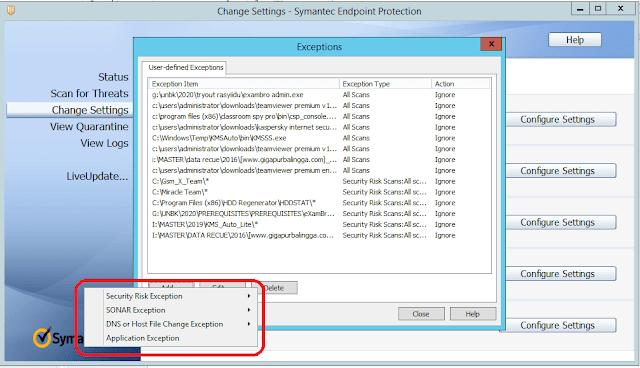 add exception folder