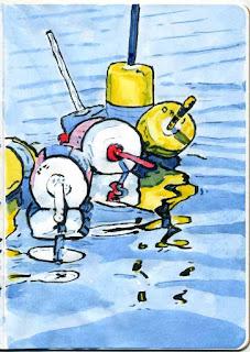 """Buoy Knot"" - Watercolor by Paul Sherman"