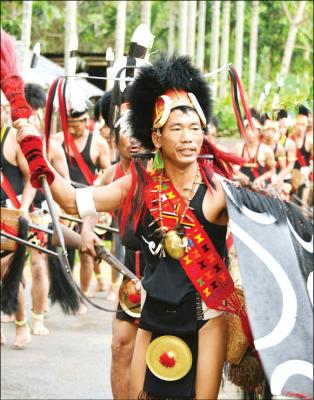 The Eastern Nagas: A Konyak Naga is seen performing a dance