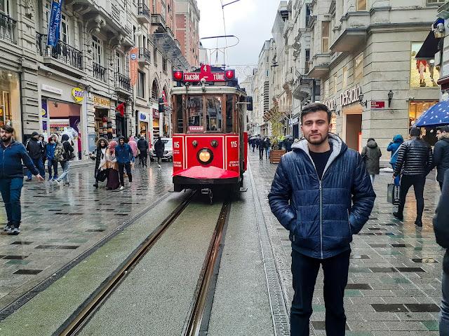 İstiklal Caddesi ve Tramvay, İstanbul, Beyoğlu | Harun İstenci - Ocak 2020