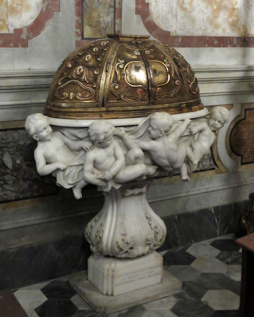 Baptismal font, church of the Madonna, Via della Madonna, Livorno
