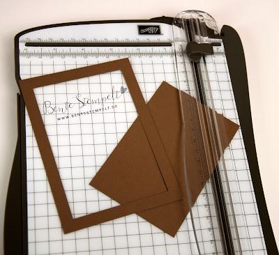 Stampin Up Papier sparen Spartipp Rahmen schneiden Schneidebrett weniger Papier verbrauchen