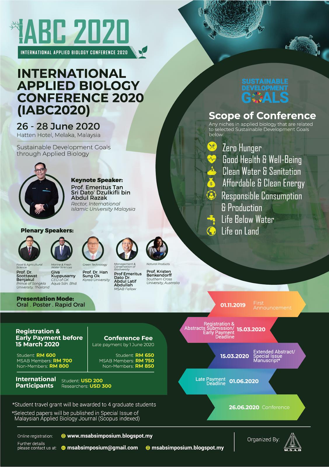 Malaysian Society Of Applied Biology Msab