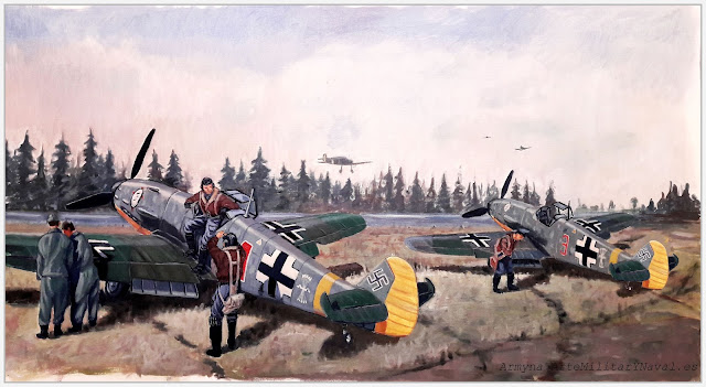 Óleo aeródromo Escuadrilla Azul