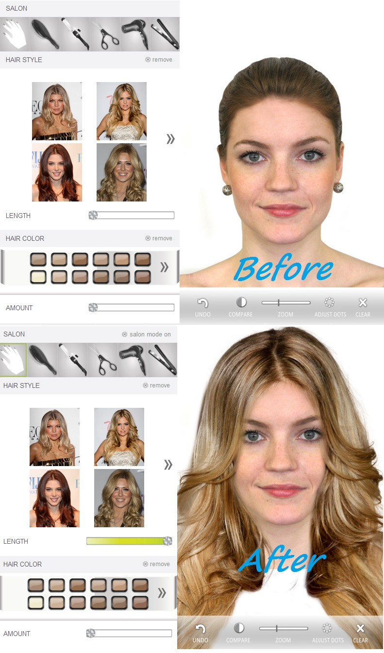 hollywood hair virtual makeover effects hollywood latest