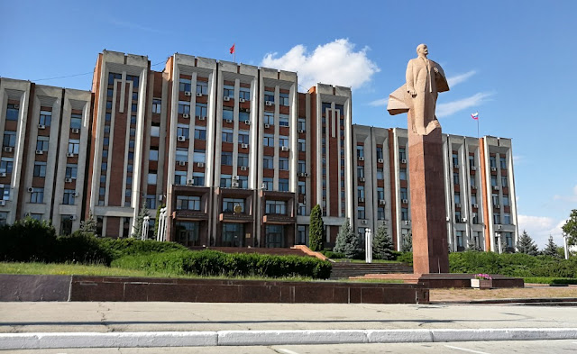 Lenin-Statue in Tiraspol, Transnistrien