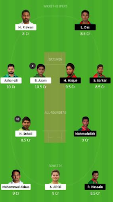 PAK vs BAN Dream11 team prediction