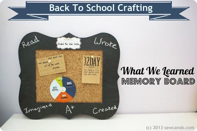Back To School Memory Board