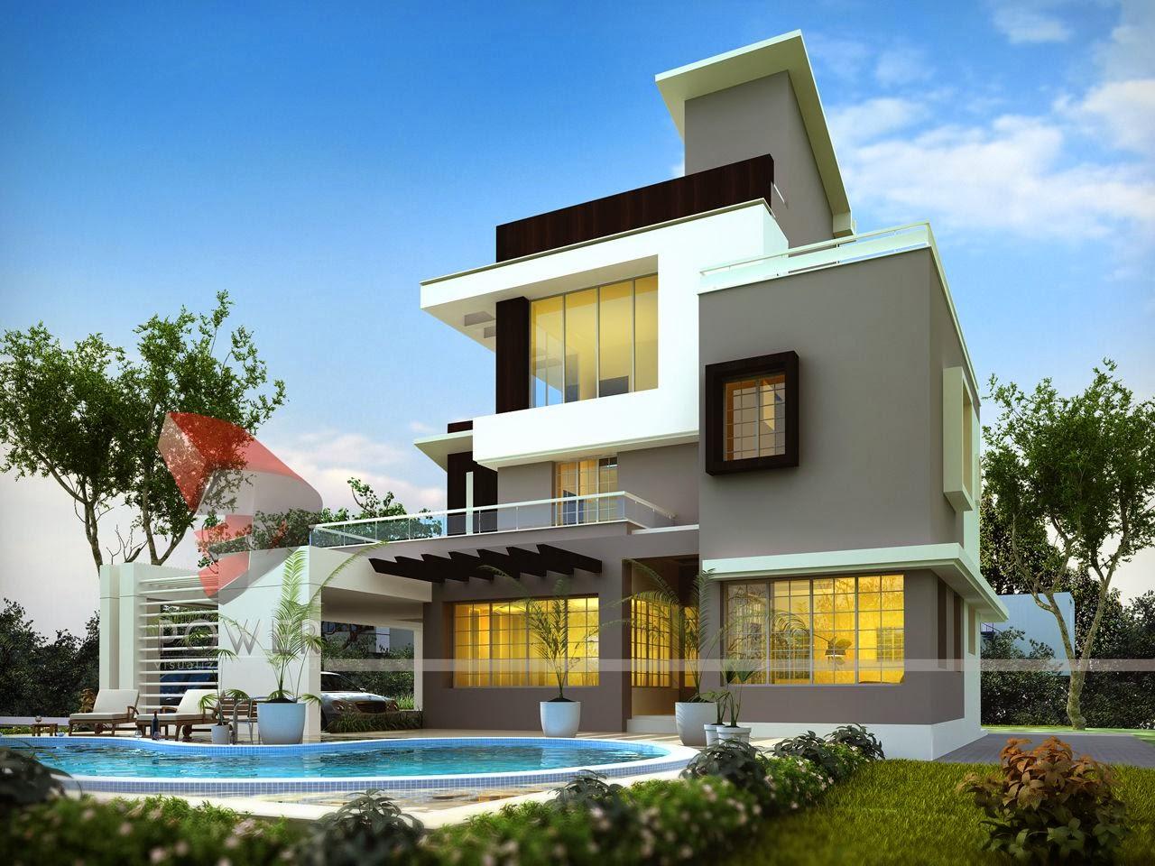 House 3D Interior Exterior Design Rendering   Modern Home ...