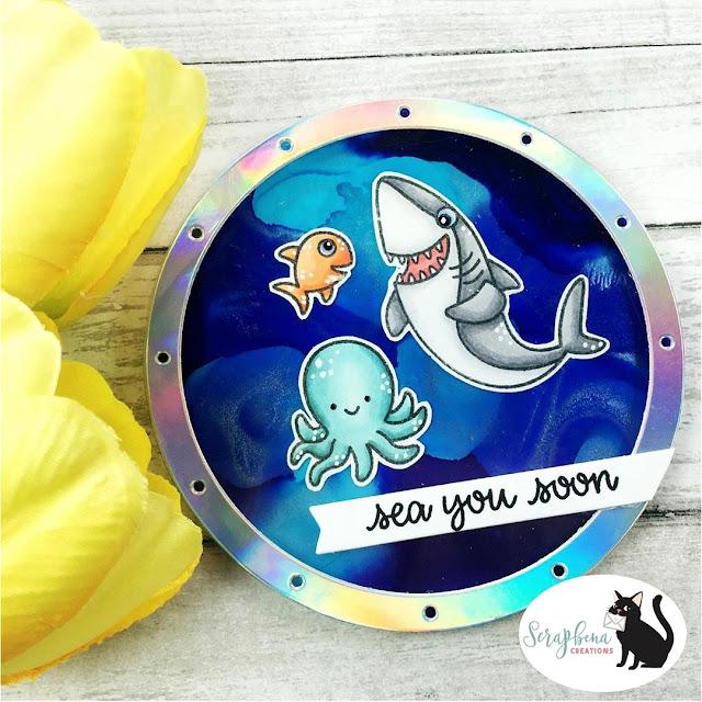 Sunny Studio Stamps: Sea You Soon Customer Card by Jenn Bena