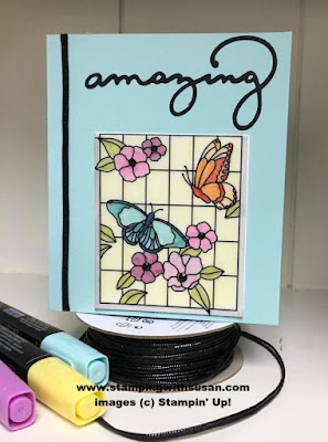 "Stampin' Up! Painted Glass Black 1/8"" Cord Stampin' Blends"