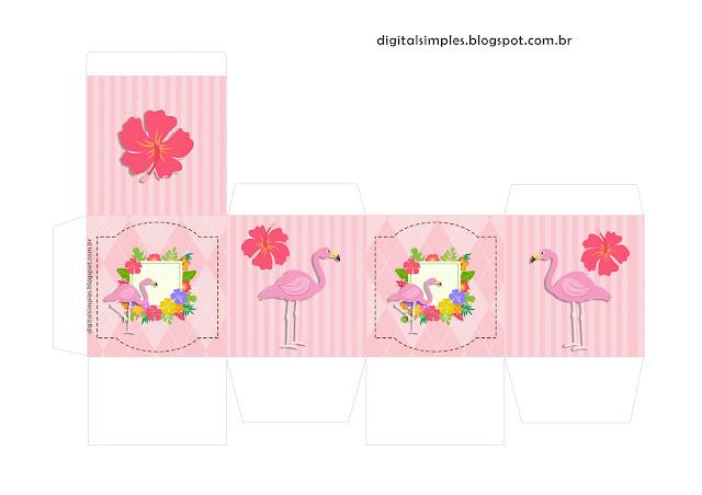 Flamingo: Free Printable Boxes.