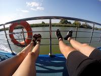 Widok na Deltę Dunaju z promu Navrom