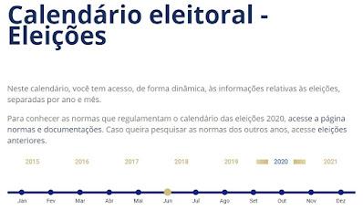 Calendário Eleitoral. Café com Jornalista