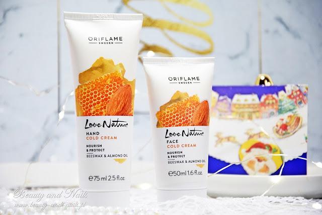 NOWOŚĆ/Love Nature - krem do rąk i twarzy z woskiem pszczelim i olejkiem migdałowym.