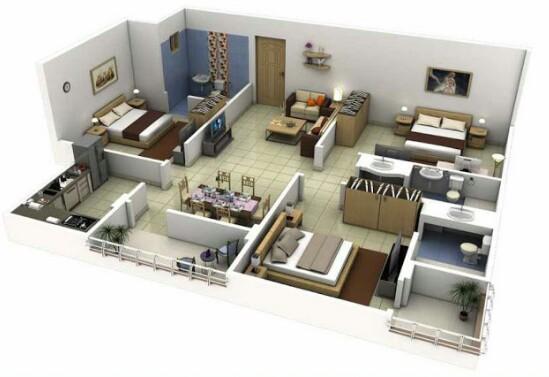 17 Desain Rumah Minimalis Type 45 Dengan 3 Kamar Tidur