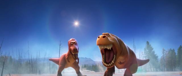 a look at disney s dino rama the good dinosaur manic expression