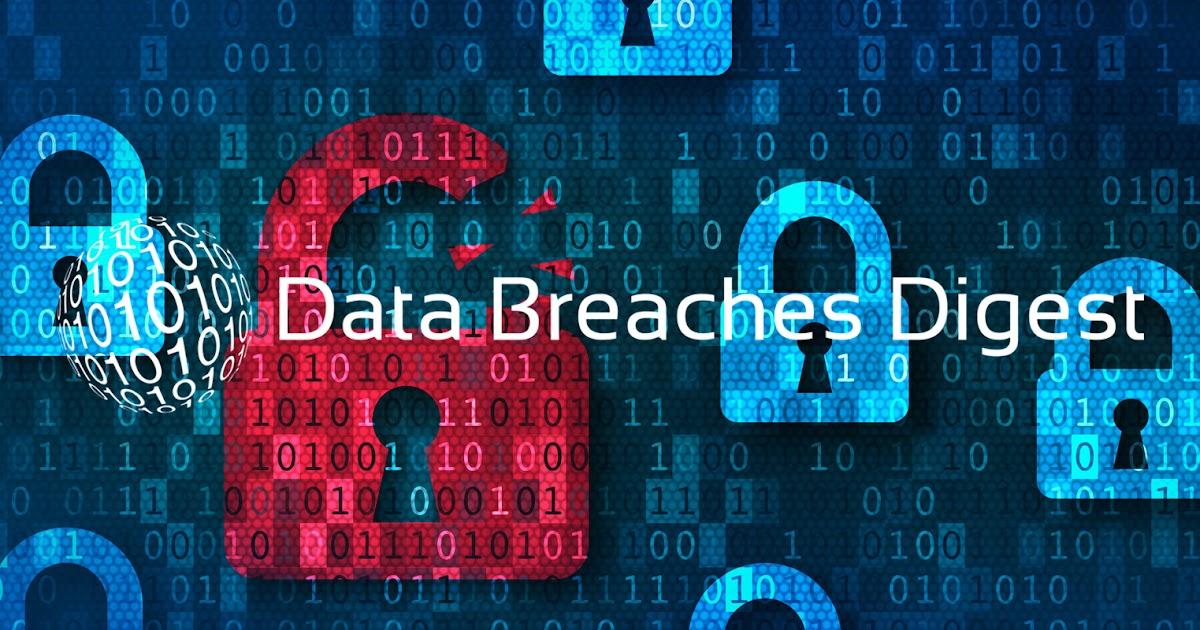 Data Breaches Digest - Week 33 2021