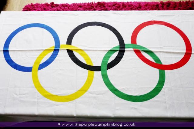 #Olympics Flag Tablecloth at The Purple Pumpkin Blog