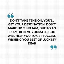 Exam Quotes Good Luck