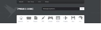 İkonlu Menü CSS Blogger Header Tasarımı HTML #1