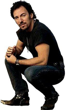 Foto de Bruce Springsteen en polo y jean