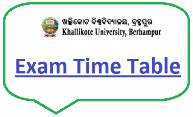 Khallikote University Exam Schedule 2020