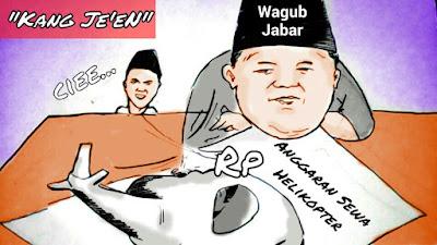 Karikatur Kita: Ciee...Ada Anggaran Sewa Helikopter di Pemprov Jabar