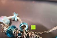 innen: A TE® Armband Charms Damen Kristall Blau Muranoglas Blume Glasperle Mädchen Geschenk Frauen #JW-B94