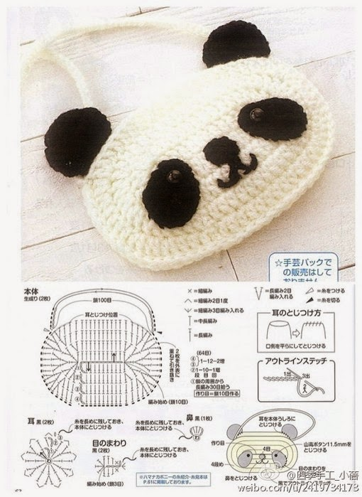 Armarinho São José: Amigurumi - Ursinho Panda! | 699x510