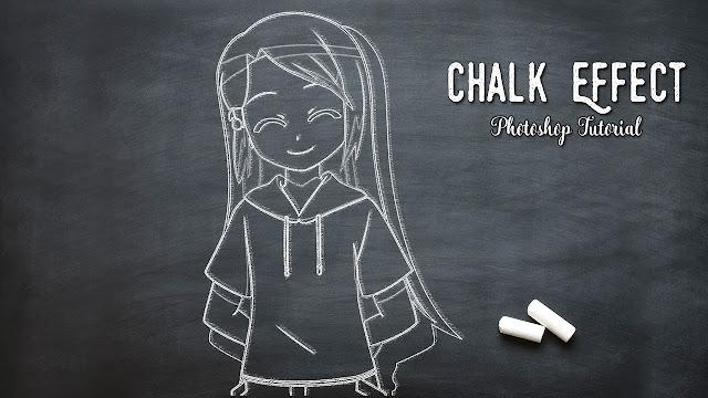 Simple Blackboard Chalk Outline Effect - Photoshop Tutorial