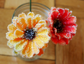 DIY Crystal borax flowers