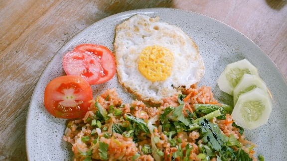 sarapan di hati padi cottage ubud