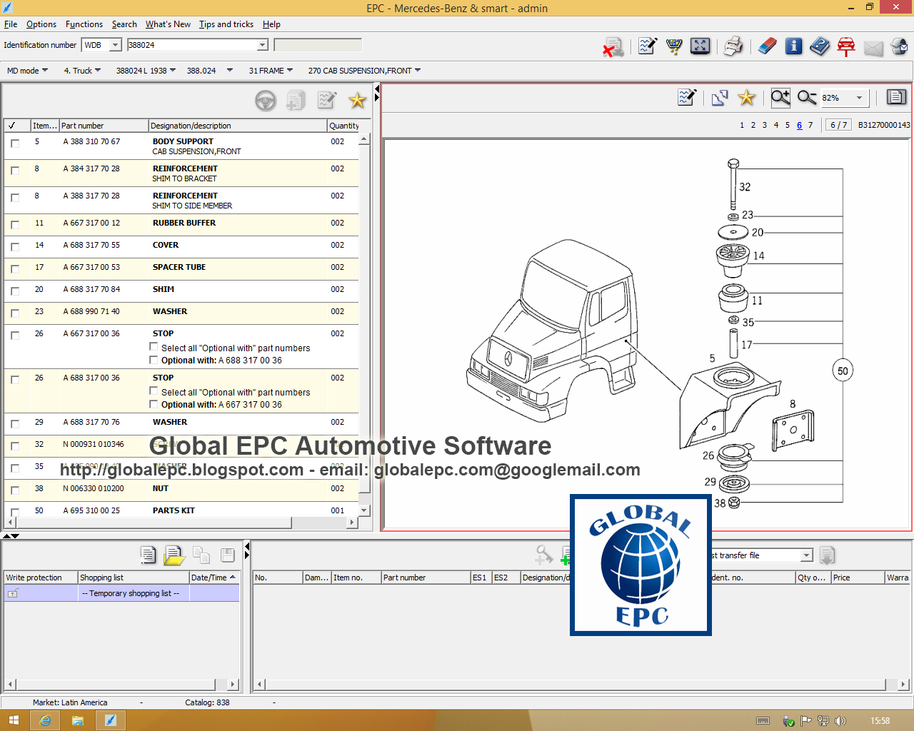 Global epc automotive software for Mercedes benz software