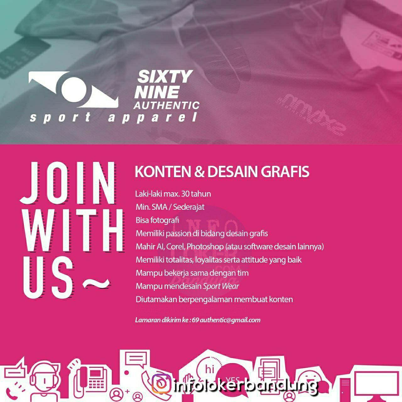 Lowongan Kerja Sixty Nine Authentic Sport Apparel Bandung Juli 2018