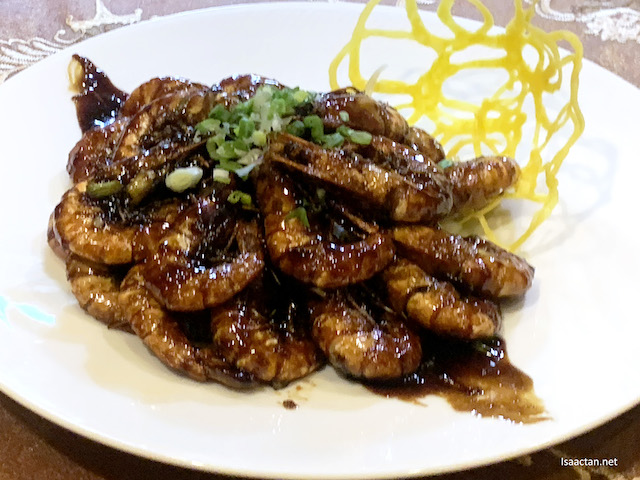 Wok Fried Tiger Prawns with Superior Soya Sauce
