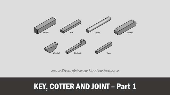 what-is-key-cotter-and-joint-in-engineering-drawing-hindi-language-part-1