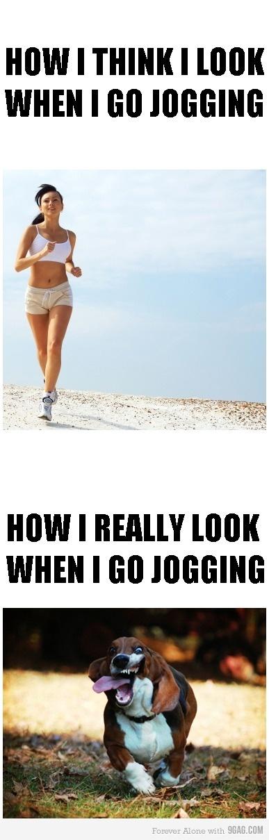 joggen en niet afvallen