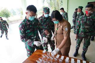 Antisipasi Penyalahgunaan Narkoba, Personel Denzibang1/Stg ikuti Sosialisasi Penyuluhan P4GN danTes Urine