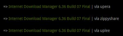 pilih server download idm